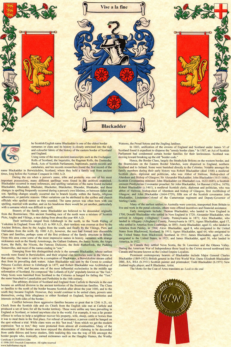 ac77e14031e52 Coat of Arms   Surname History - Yester Years